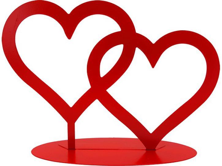 Aufsteller Herzen rot