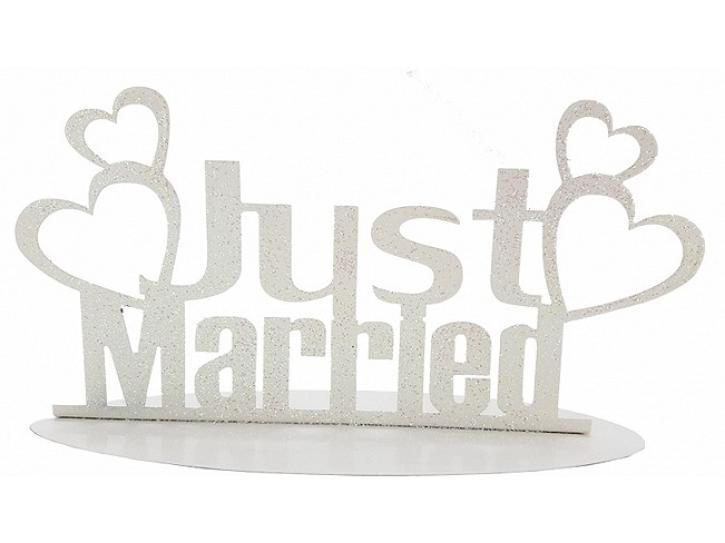 Aufsteller Just Married weiß