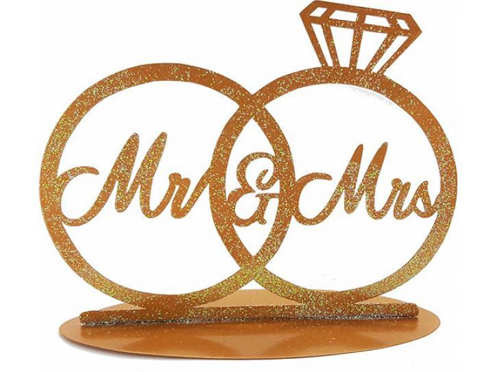 Aufsteller Mr. & Mrs. Hochzeitsringe
