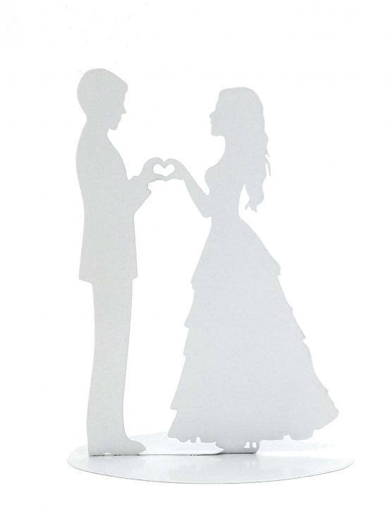 Aufsteller Brautpaar weiß