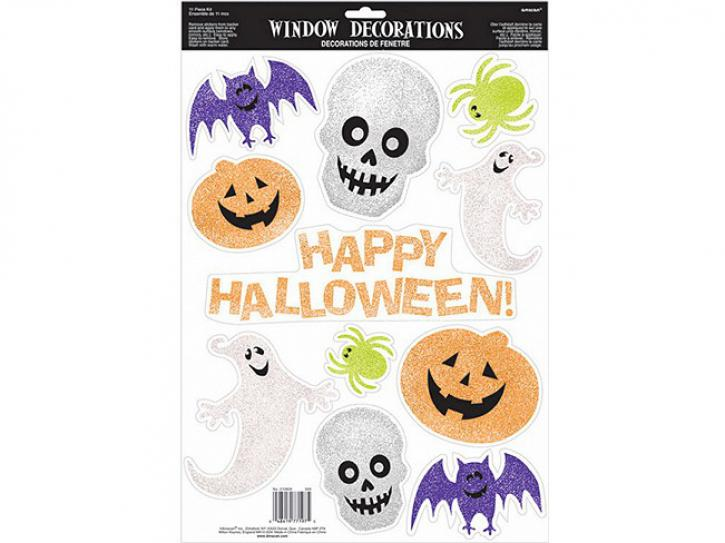 Fensterdeko Halloween Glitzer 11 Stk.