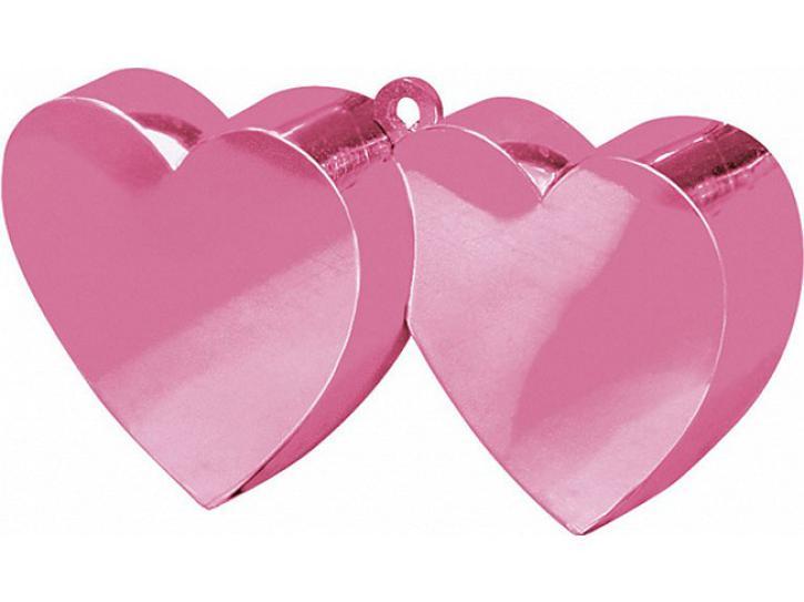 Ballongewicht Herz doppelt rosa