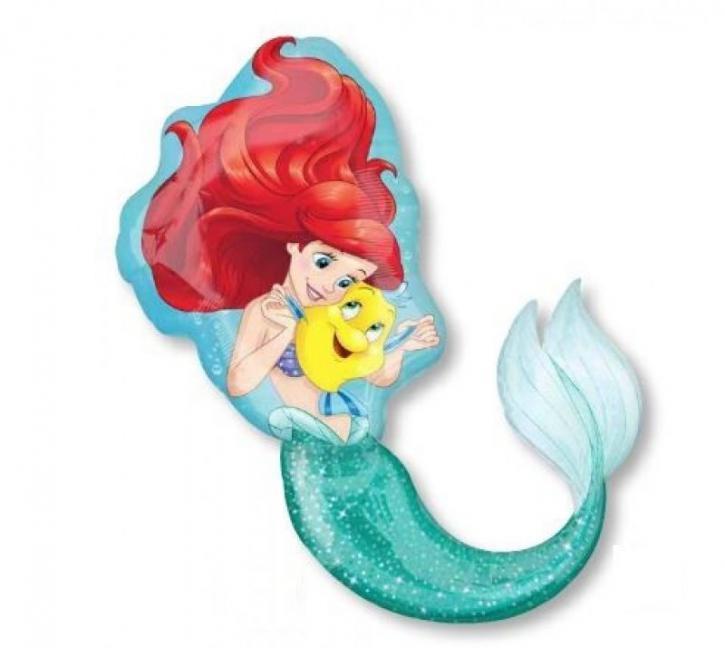 Folienballon Figur Meerjungfrau Ariel
