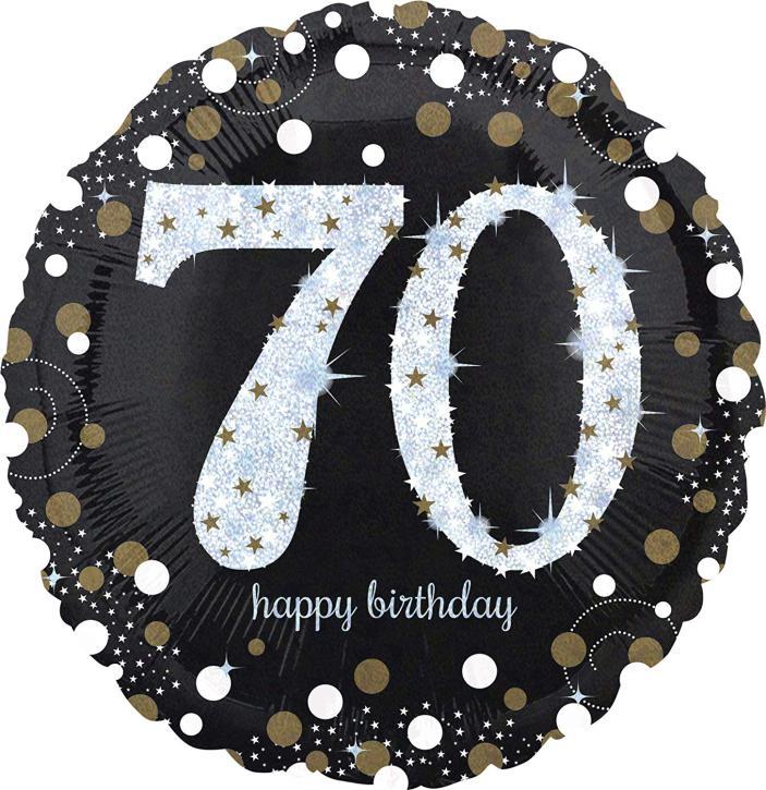 Folienballon 70 celebration
