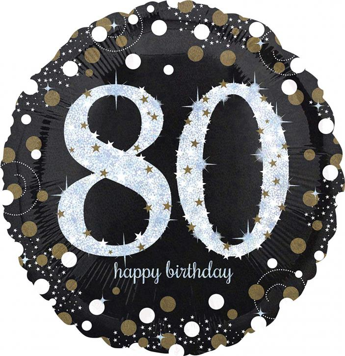 Folienballon 80 celebration