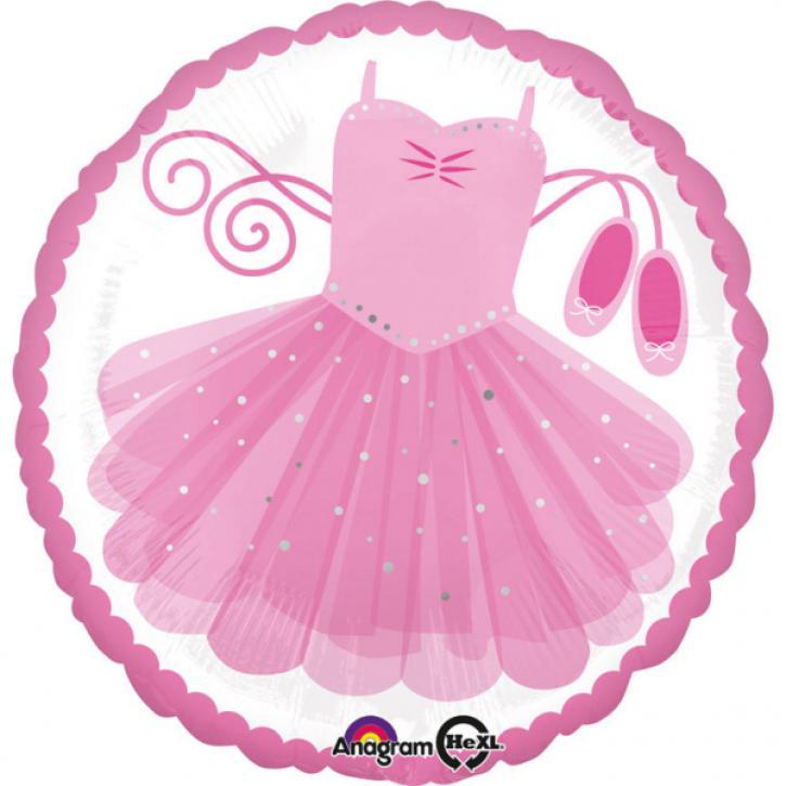 Folienballon Ballerina Tütü pink