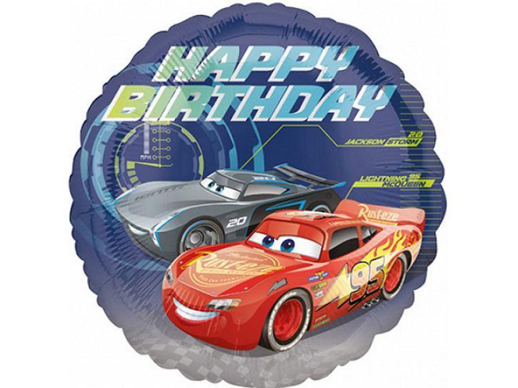 Folienballon Cars Happy Birthday 45cm