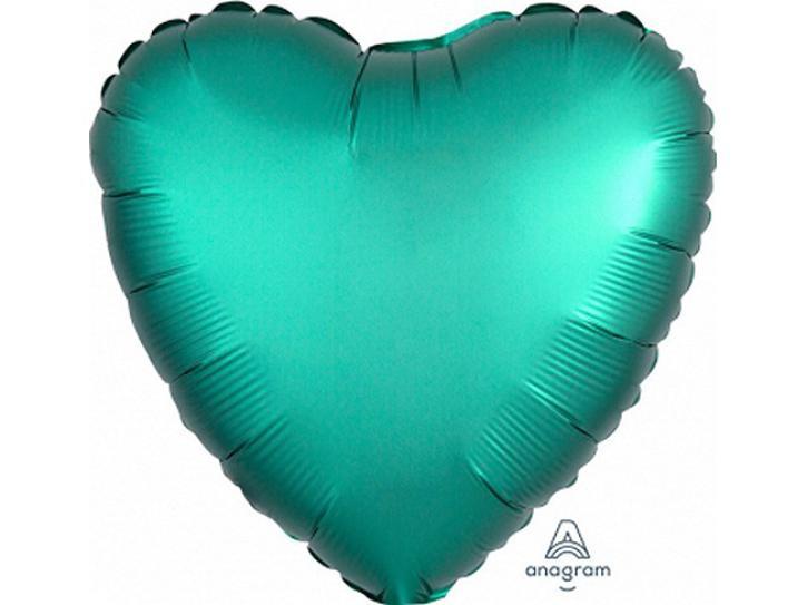 Folienballon Herz Jadegrün matt 48cm