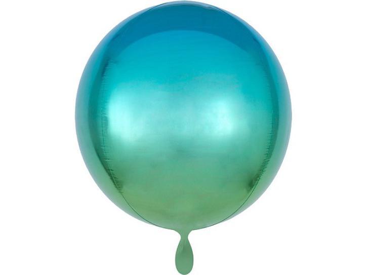 Folienballon Orbz blau-grün 40 cm