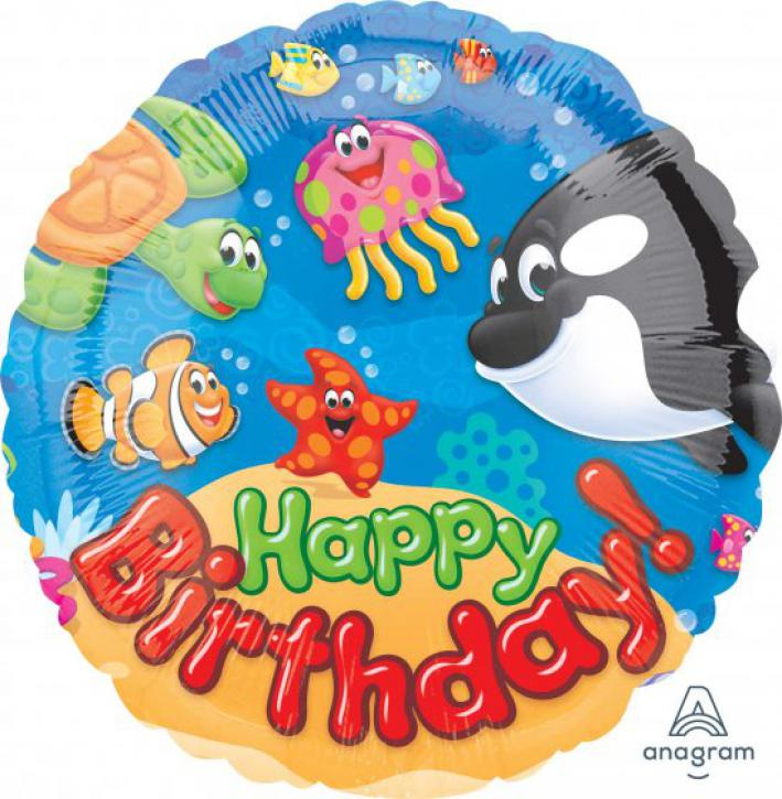 Folienballon Happy Birthday Sea Buddies