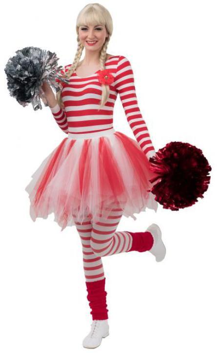 Petticoat Kinder rot/weiß Gr. 116/140