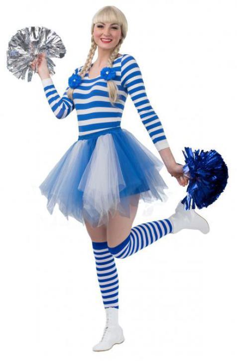 Petticoat Kinder blau/weiß Gr. 116/140
