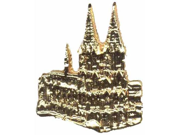 Pin Kölner Dom goldfarbig