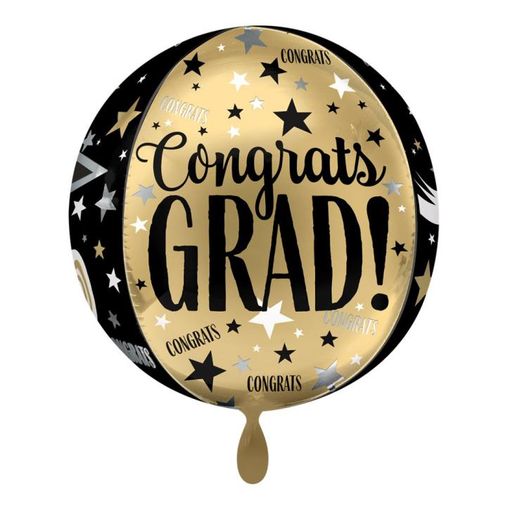 Folienballon Ball Congrats Cap & Diploma