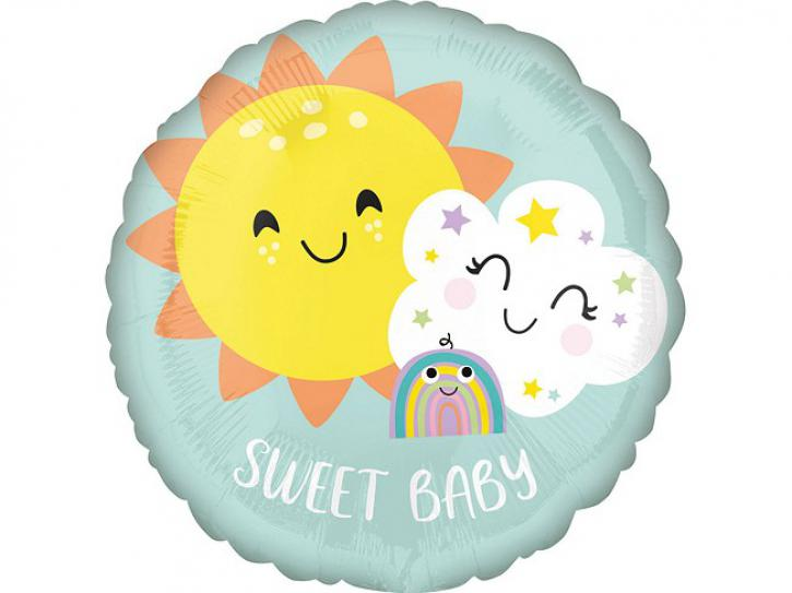 Folienballon Baby Regenbogen