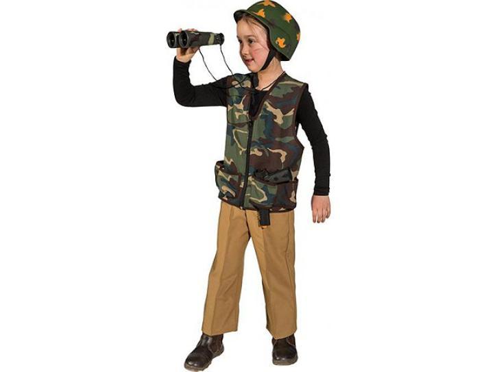 Weste Army für Kinder Gr. 116/128