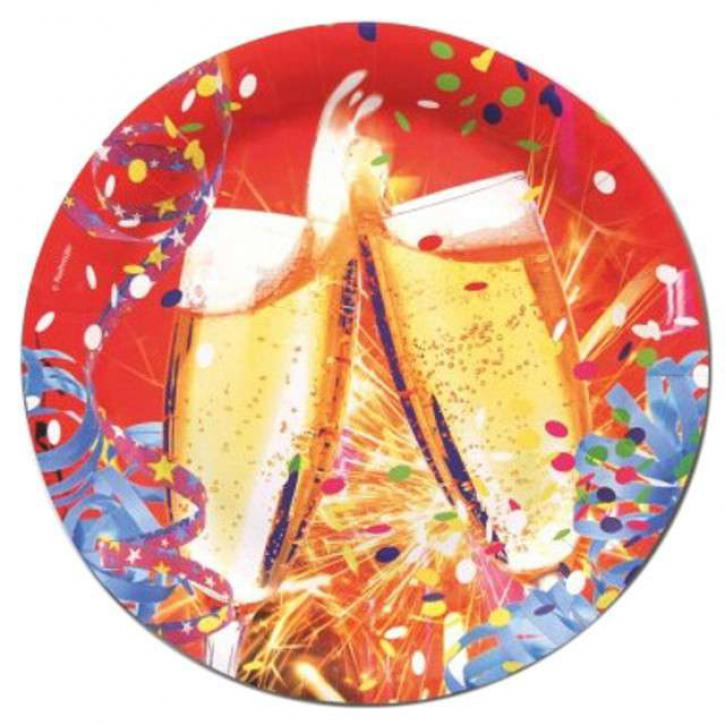 Teller Happy New Year 8 Stk.
