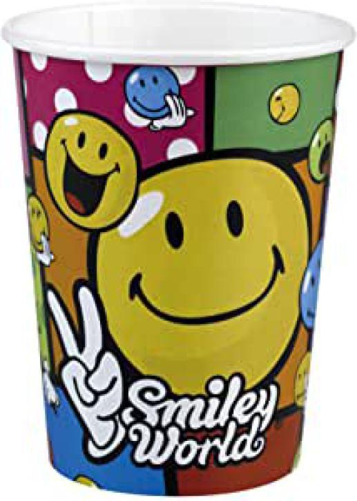 Becher Smiley Comic 8 Stk.