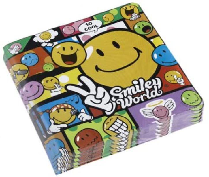 Servietten Smiley Comic 20 Stk.