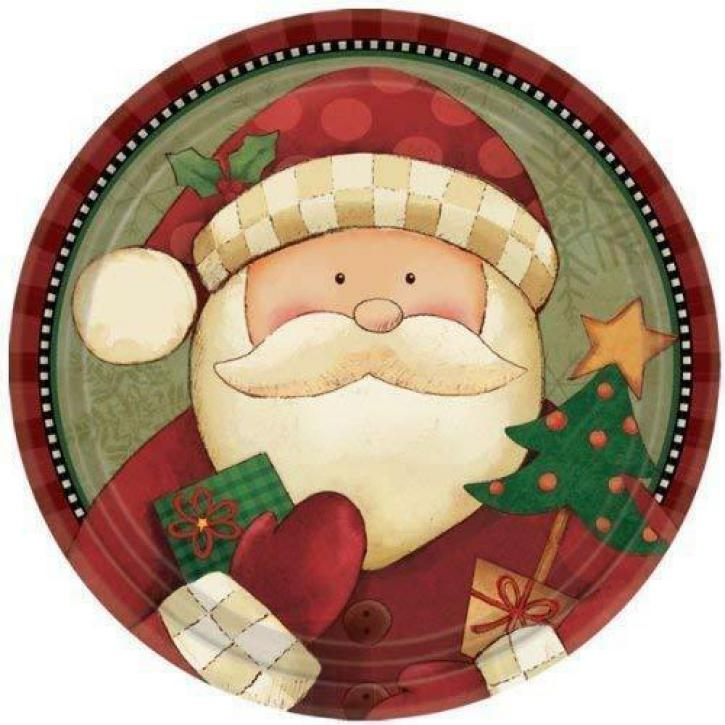 Teller Cozy Santa 8 Stk.