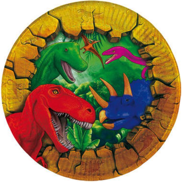 Teller Dinosaurier 6 Stk.