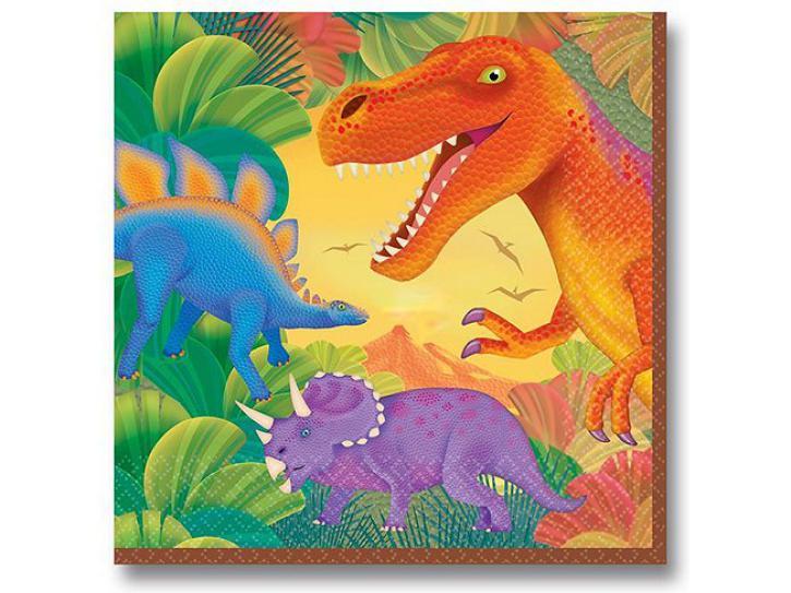 Servietten Dinosaurier 16 Stk.