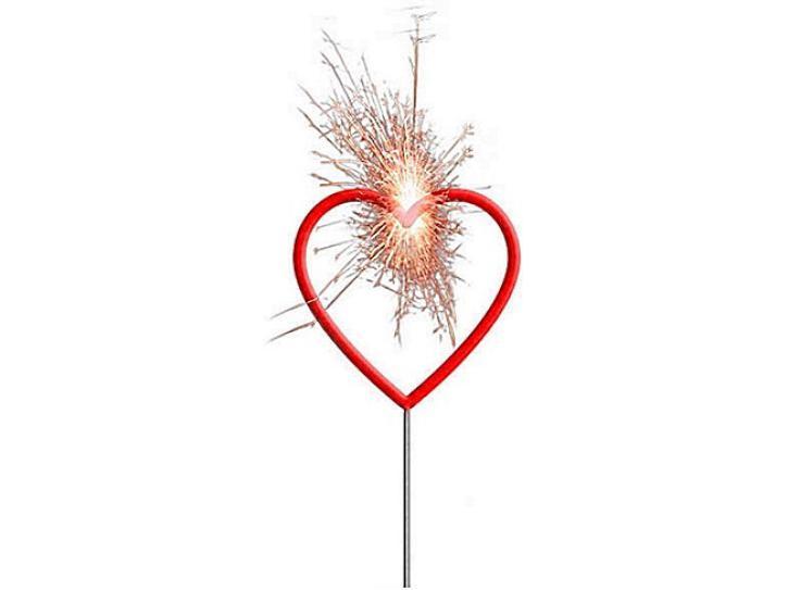 Wunderkerze Herz rot 30cm