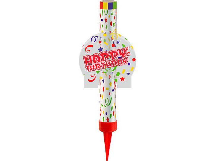 Eisfontäne Happy Birthday 12cm