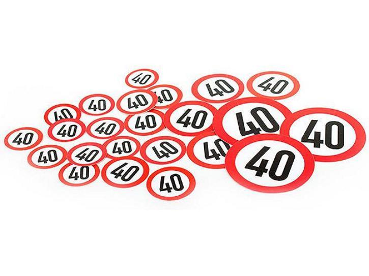 Konfetti XL Verkehrsschilder 40 48 Stk.
