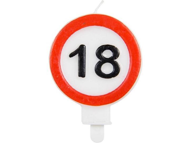 Kerze Verkehrschild 18