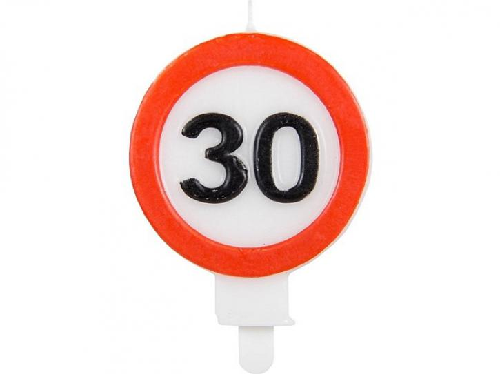 Kerze Verkehrschild 30