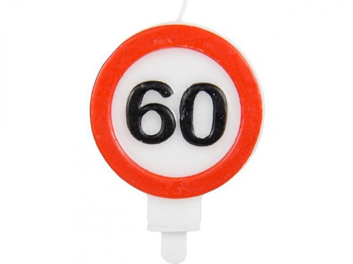 Kerze Verkehrschild 60