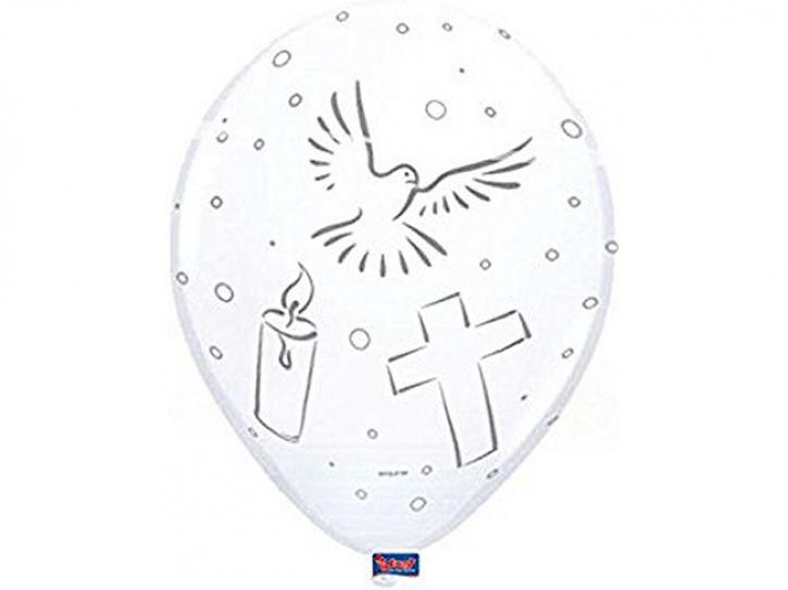 Latexballon Kommunion/ Taufe 8 Stk.