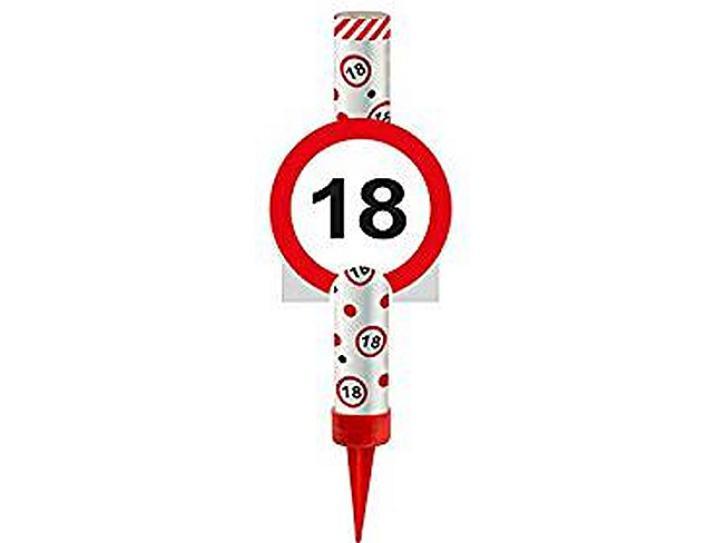 Eisfontäne Verkehrschild 18
