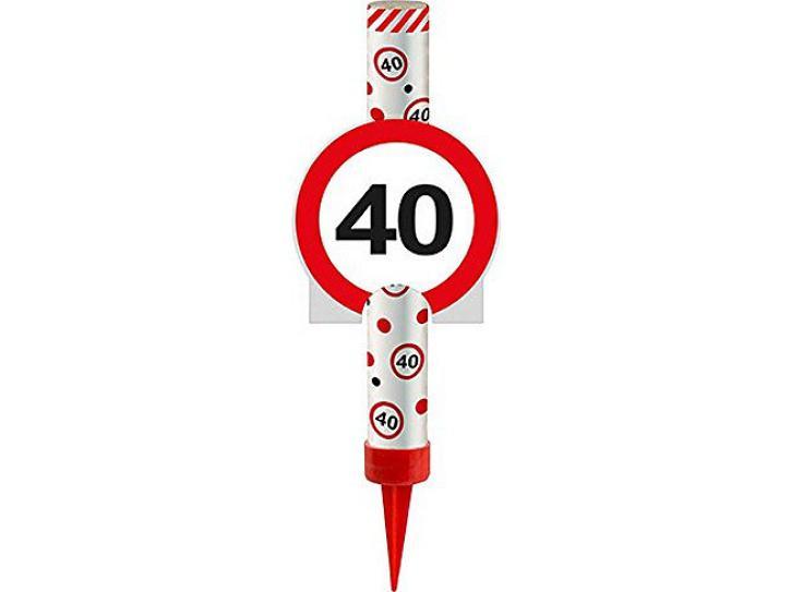 Eisfontäne Verkehrschild 40