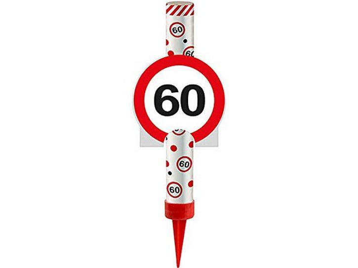 Eisfontäne Verkehrschild 60