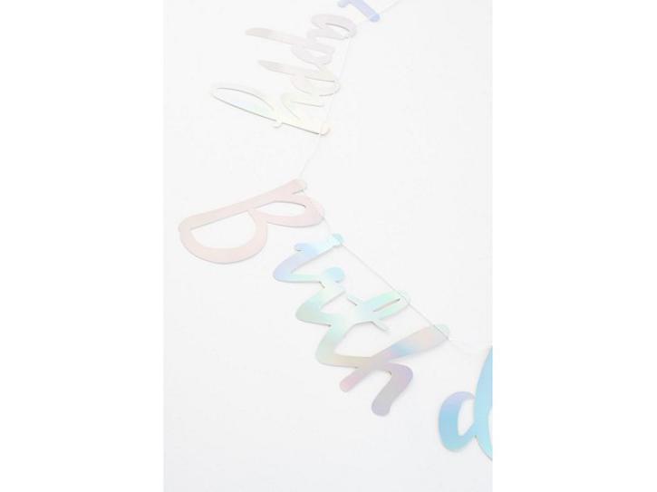 Banner irisierend  Happy Birthday 1,3m