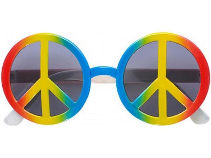 Brille Love & Peace bunt