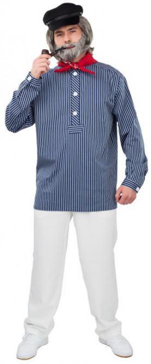 Fischerhemd blau Gr. 46/48