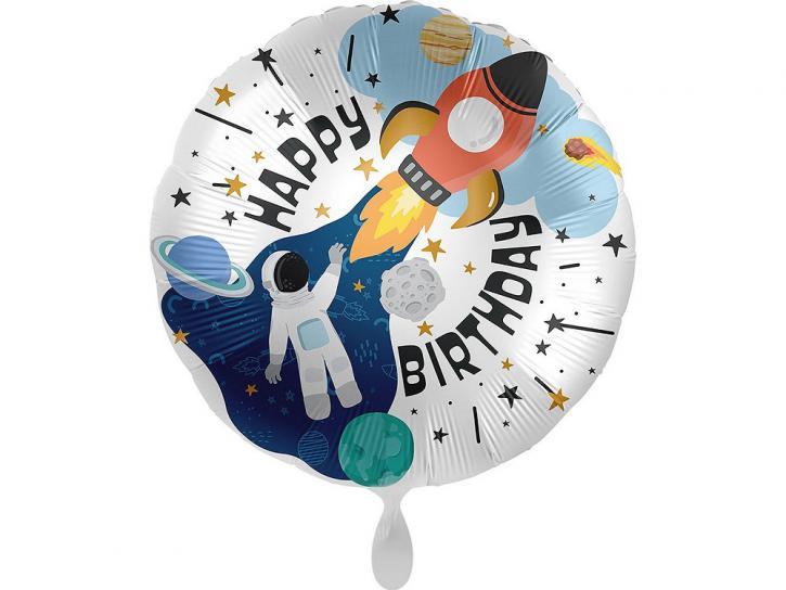 Folienballon Birthday space