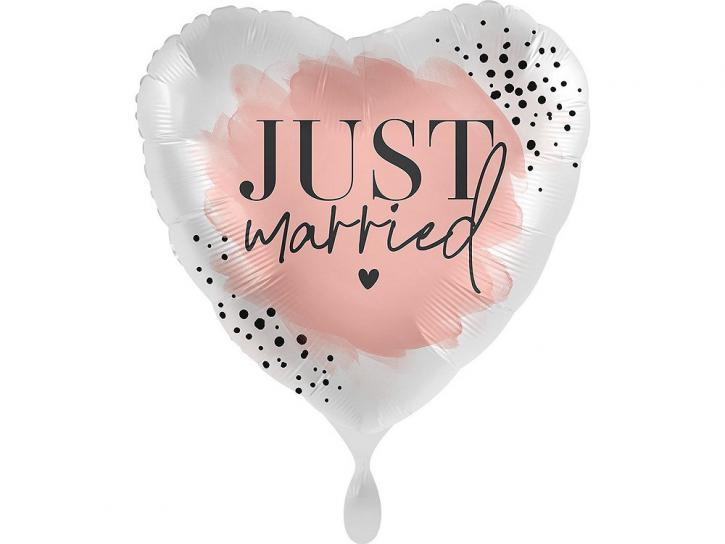 Folienballon Just Married rosegold