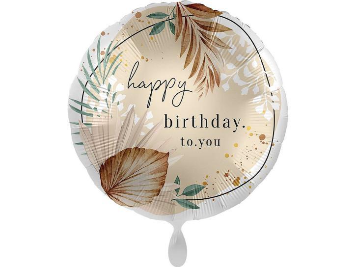 Folienballon Boho Birthday