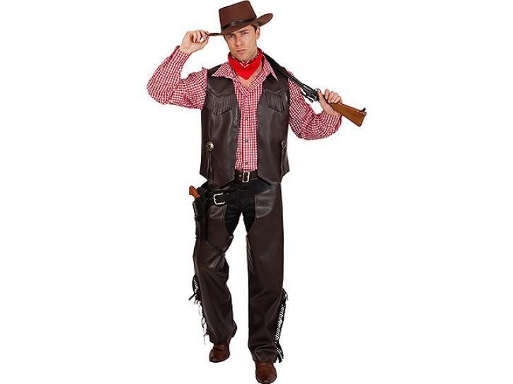 Cowboy Weste braun Gr.56/58