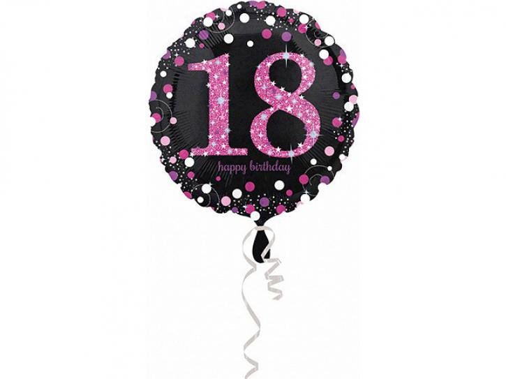 Folienballon 18 pink celebration