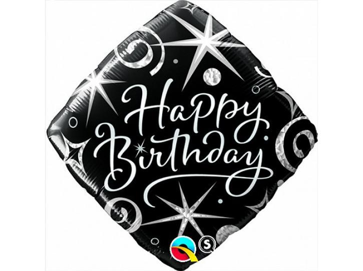 Folienballon Birthday Elegant Sparkles