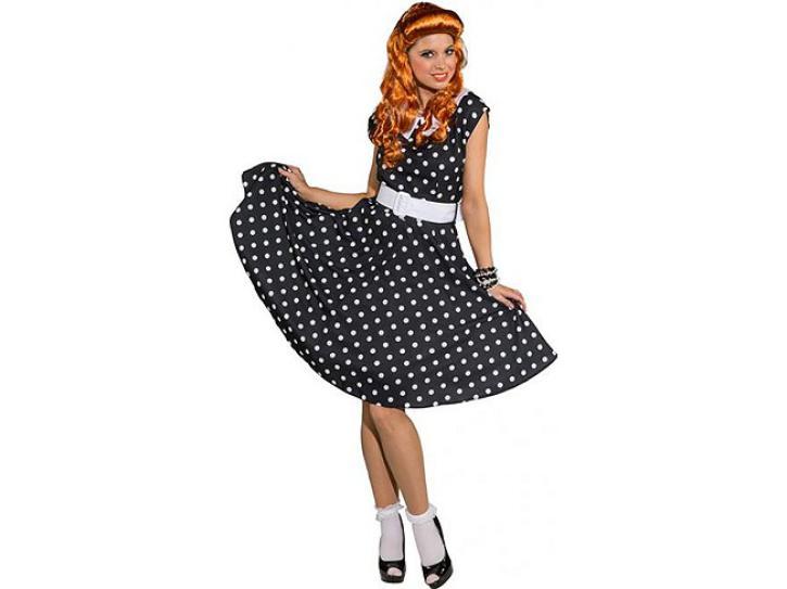 Kleid Rockn Roll schwarz/weiß Gr.44