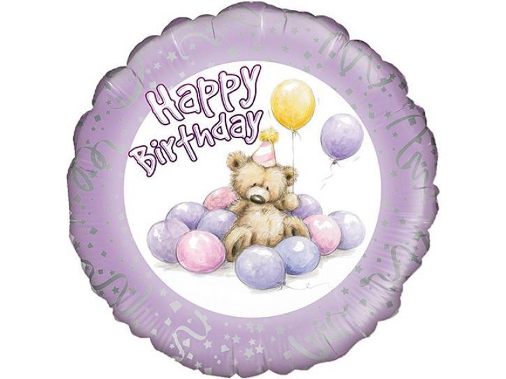 Folienballon Bär Happy Birthday