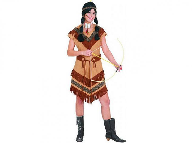 Kostüm Indianerin braunes Band Gr. 36