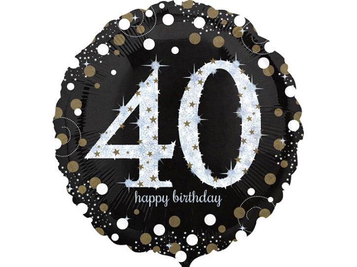 Folienballon 40 celebration