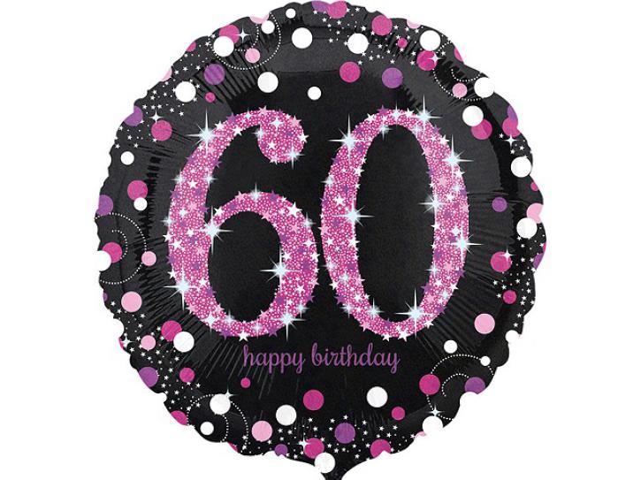 Folienballon 60 pink celebration